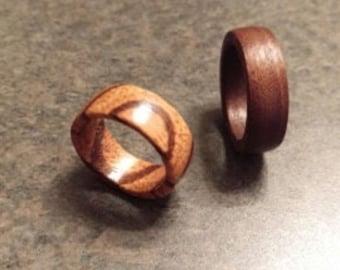 Custom Wood Wedding Bands / Rings for Men and Women