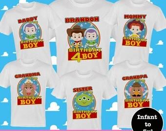 Toy Story Birthday Shirts, Disney Family Birthday Shirts,