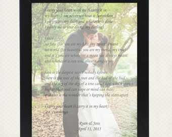 I carry your heart Poem Print Wall Art *Digital*