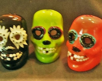 CLEARANCE! Ceramic Light-Up Skulls - Choose from 3 Colors