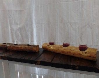Rustic Reclaimed Centerpiece Candleholders