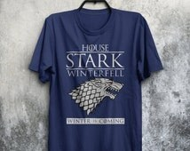 House Stark Winterfell GOT Family Sigil Crest Winter Is Coming Inspired Adults Mens & Women's T-shirt Top Tee Shirt All Sizes And Colours