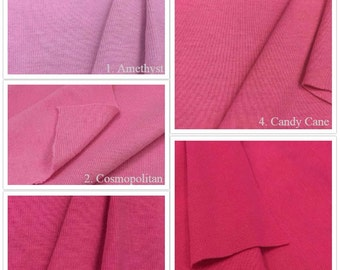 USA Made Premium Quality 100% Cotton 1x1 Rib Knit Fabric (Wholesale Price Available by the bolt) - 4001C3 - 1 Yard