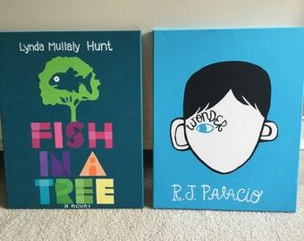 Custom Book Cover Paintings