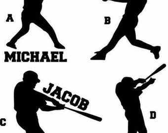 Personalized Baseball Player Decals