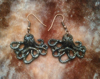 Polymer clay Octopus earrings