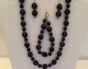 Black Shimmer Jewelry Set