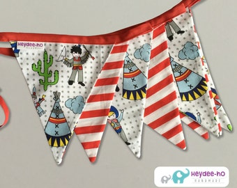 Bunting flags – cowboys and indians