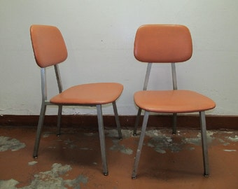 Pair of Shaw-Walker vintage mid-century modern chairs, model 410