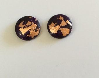 10mm Grape/Copper Leaf Dome Studs