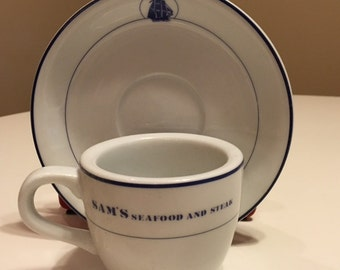 Cup and Saucer from Sam's Seafood and Steak Restaurant in Okinawa