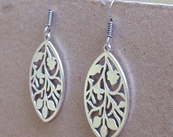 Marquise Earring   Dangle & Drop Earrings   Fusion Earrings   Fashion Jewellery   Silver Plated Earring   Hook Earwire Earrings   E32