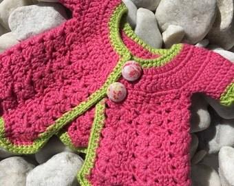 Rosebud newborn cardigan