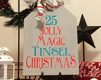 Christmas Tag Board Traditional
