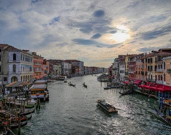 Venice, Fine Art, Gondola, Metallic Print, High Quality Print