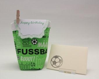 Gift bag for voucher/gift soccer