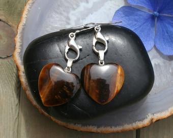 Tigereye Harts Earrings
