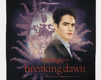 Twilight Saga Breaking Dawn Edward The Handsome Vampire Fleece Throw Blanket