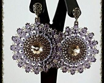 Earrings Esmeralda Daisy pattern Fusco