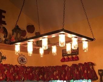 Vintage Industrial Edison Bulb Chandelier