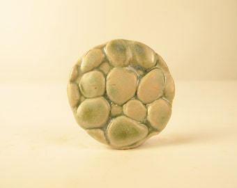 Celadon Bubble Brooch - VERY subtle green color