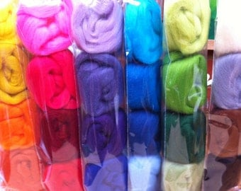 Merino Wool Tops 24 colours in 6 colour palettes
