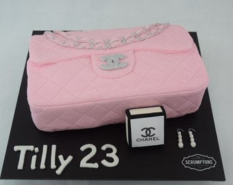 3D Birthday Celebration Sculpted Personalised Handbag  Cake
