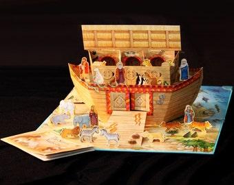Vintage Noah's Ark Pop Up Play Book