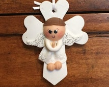 12 White Angel Boy Rosary Favors Baptism First Communion Christening Bautizo Rosario De Migajon Niño