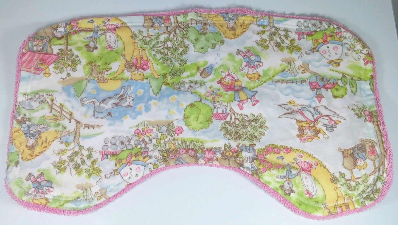 Nursery Burp Cloth Baby Burp Cloth Curved Burp Cloth Towel