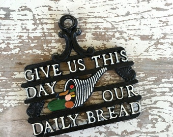 Vintage Daily Bread Trivet or Wall Hanging