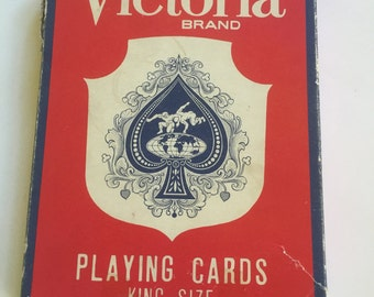 King Sized Playing Cards VICTORIA  Brand -Vintage Oversize Cards
