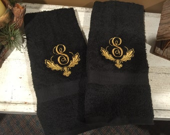 Monogrammed Embroidered Hand Towel -  1 Towel