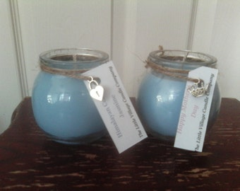 Personalised scented Soy wax Globe Jar
