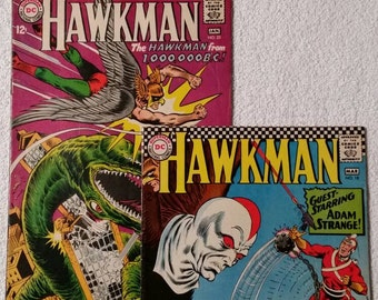 Hawkman #18 and #23, Murphy Anderson Artwork! (1967)