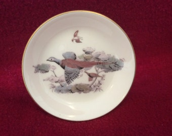 Royal Worcester Pheasant Pin Dish