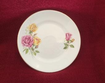 Staffordshire Roses Tea Plate