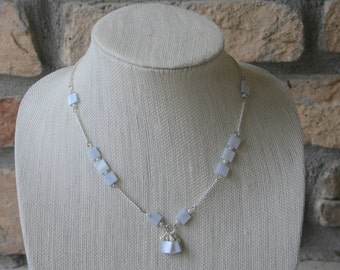 Shell Necklace | Pearl Necklace | Sky Blue Necklace | Statement Necklace | Delicate Necklace | Dainty Necklace | Everyday Jewelry