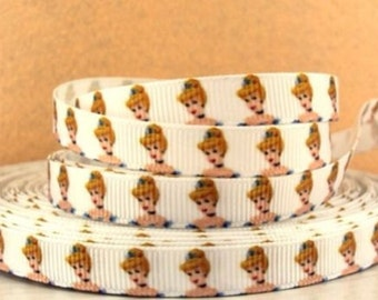 "3/8"" Princess Cinderella grosgrain ribbon  * You pick qty* hair bows, scrapping,landyards"