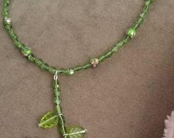 Calla Lily necklace or car dangle