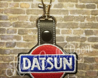 Datsun Key Fob Embroidery Design (digital File)