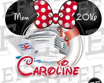 Cruise Disney T-shirts (familiar Trip) Printable Iron on Transfer Cruise Minnie Mouse Mickey Mouse personalized
