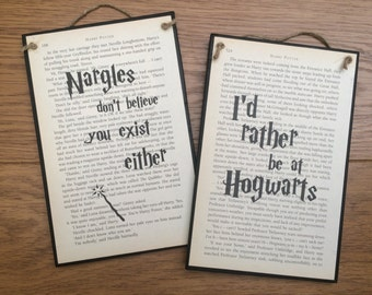 Harry Potter Inspired Wooden Wall Plaque