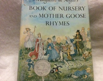 Mother Goose Rhymes and Nursery Book 1954 Marguerite de Angeli's