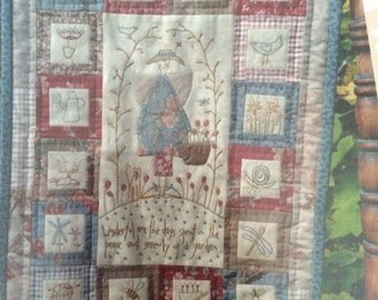 Hatched and Patched Peaceful Garden Wall hanging