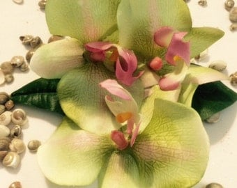 Tropical Orchid hair clip