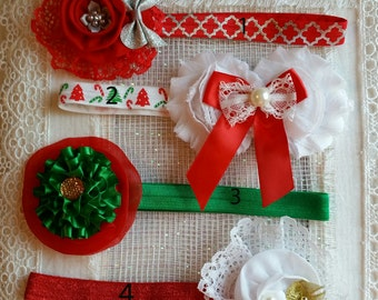 Christmas Baby Headbands, Christmas Newborn Headbands, Christmas Reborn Headbands, Baby Gift, Photo Shoot, Photo Prop , Christmas Outfit