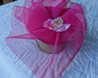 Pink Mini Hat Fascinator A Original Hat by Eliza Tate