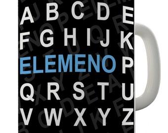 Funny Alphabet Elemeno Ceramic Novelty Gift Mug