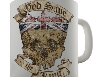 God Save The King Ceramic Novelty Gift Mug
